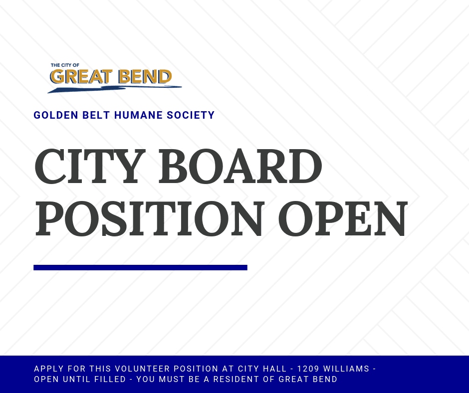 CITY BOARD POSITION OPEN