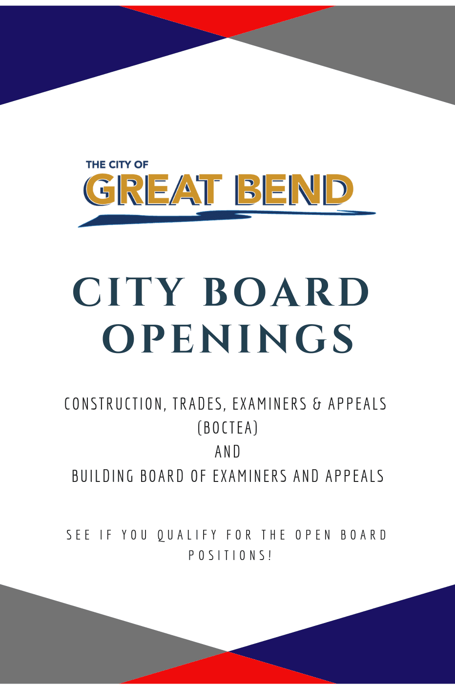 city board openings