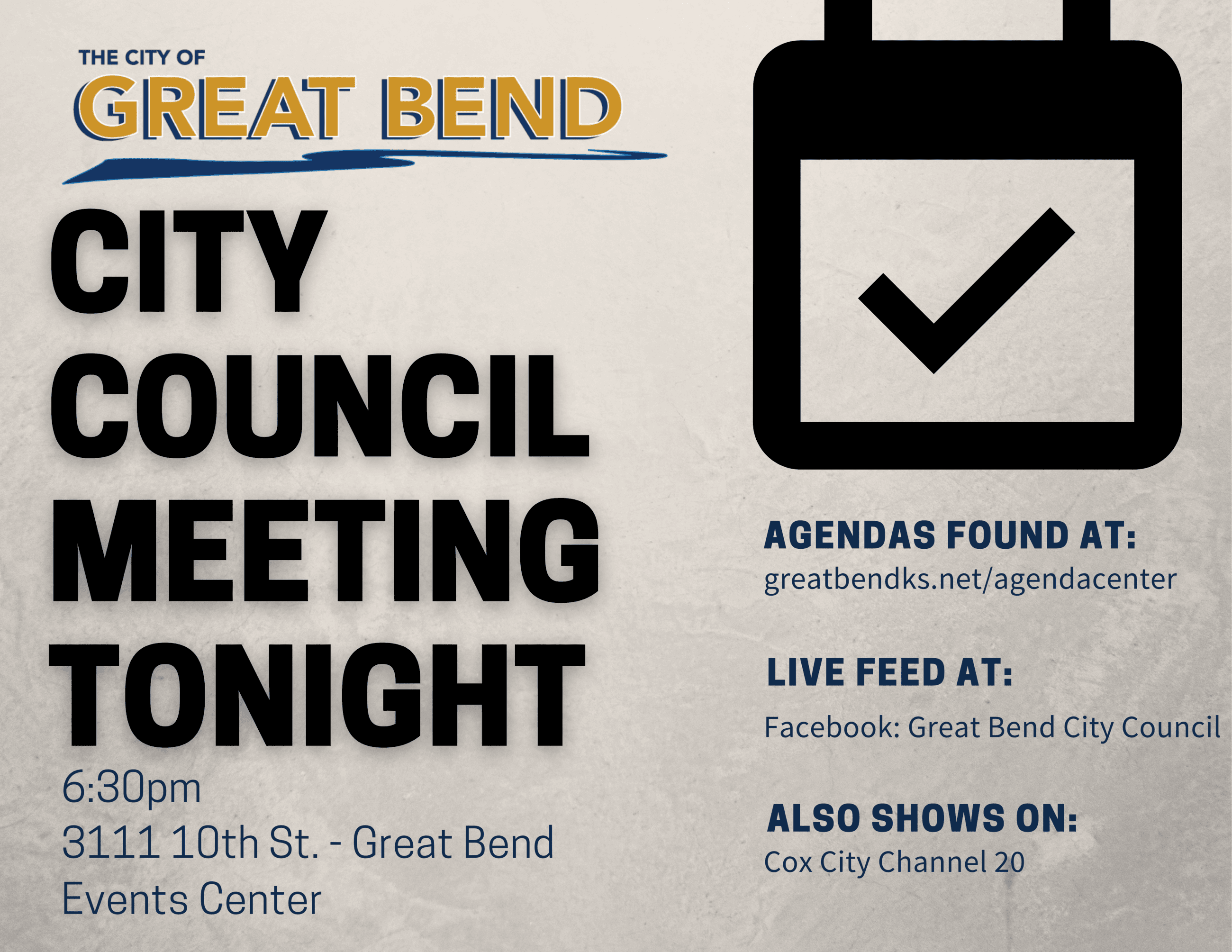 City Council Meeting tonight (2)