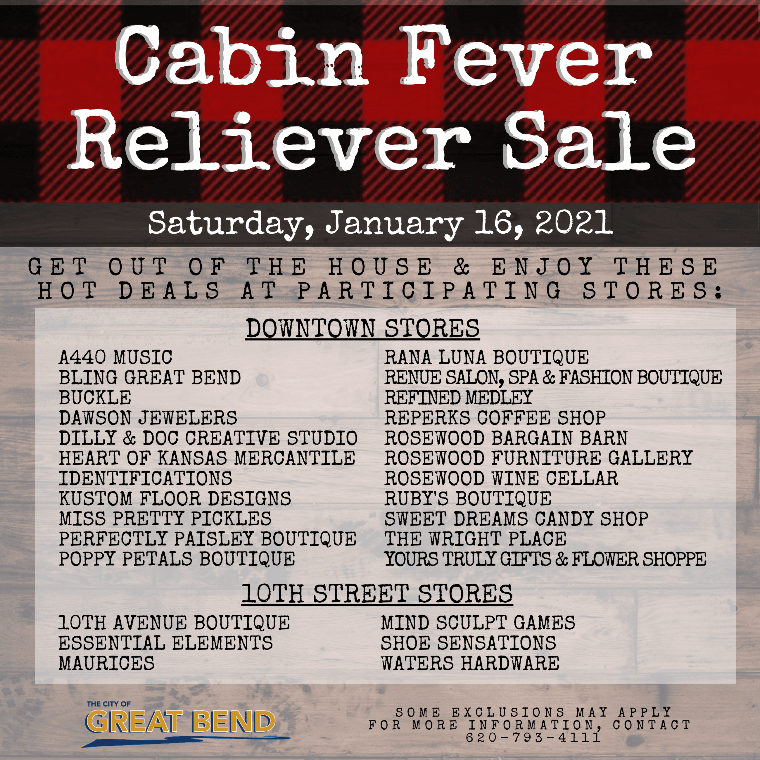 2020 Cabin Fever Reliever Sale